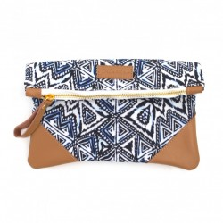 Aztec Fold Over Clutch